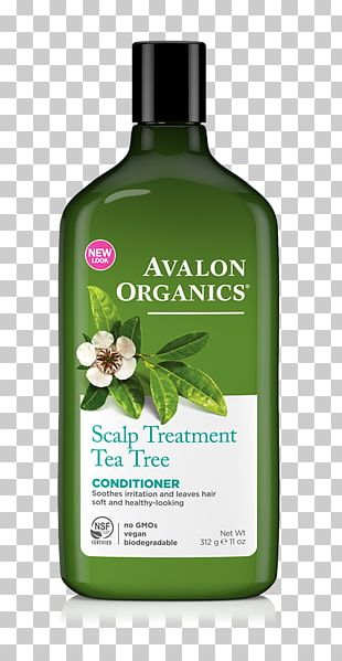 Avalon Organics Tea Tree Mint Treatment Shampoo Hair Conditioner Tea Tree Oil Scalp Hair Care PNG