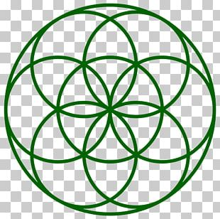 Overlapping Circles Grid Sacred Geometry Seed Symbol PNG
