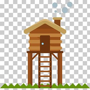 House Cartoon Log Cabin PNG
