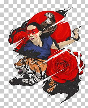 Tiger Poster Illustration PNG