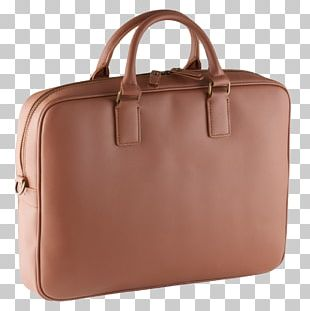 Cognac Handbag Leather Briefcase PNG