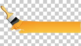 Yellow Paintbrush Paintbrush PNG