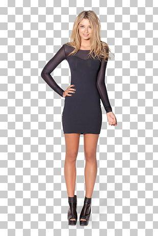 Backless Dress Little Black Dress Sleeve Bodycon Dress PNG