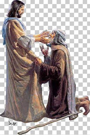 Healing The Man Blind From Birth Bible Jesus Healer Art PNG