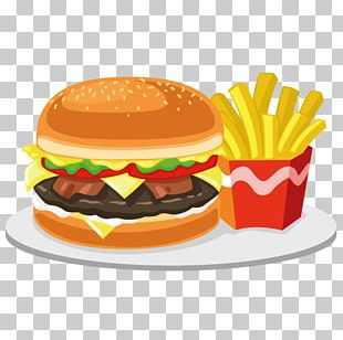 Junk Food Hamburger Fast Food Cheeseburger French Fries PNG