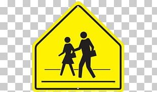 Traffic Sign Crossing Safety School Zone PNG