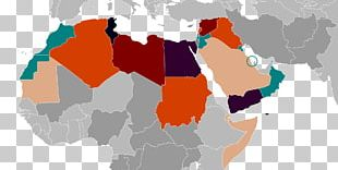 Middle East North Africa Globe MENA Map PNG