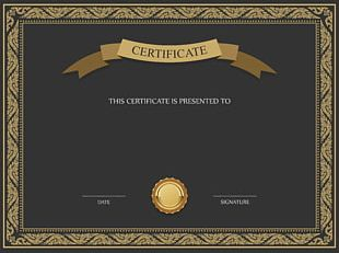 Academic Certificate Template PNG
