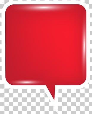 Speech Balloon Red PNG