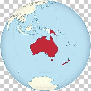 Geography Of Australia Globe World Map PNG