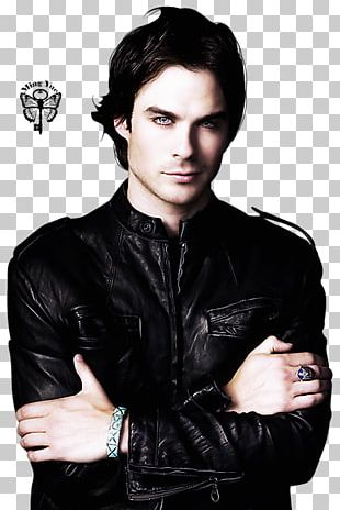 Ian Somerhalder The Vampire Diaries Damon Salvatore Leather Jacket PNG