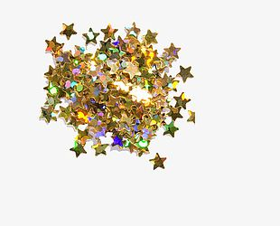 Gold Star Sequins PNG