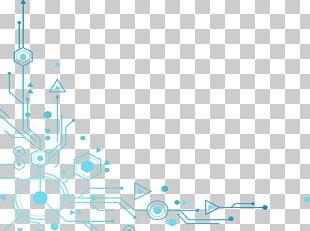 Blue Tech Elements Decoration PNG