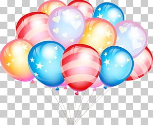 Balloon Birthday Gift Party Greeting Card PNG