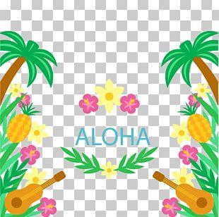 Hawaiian Tahiti Ukulele Luau PNG