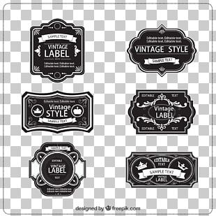 Vintage Clothing Label Etiquette PNG