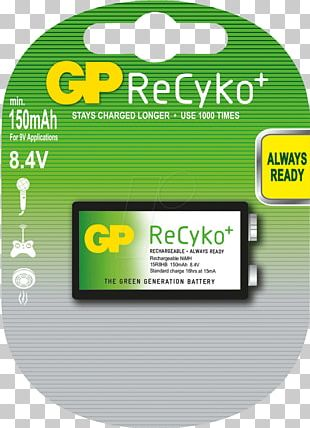 Battery Charger Nine-volt Battery ReCyko Rechargeable Battery Nickel–metal Hydride Battery PNG