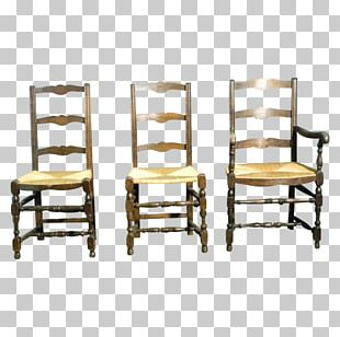 Dining Room Ladderback Chair Antique Table PNG