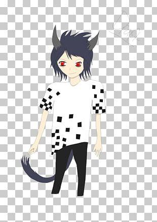 Cat Cartoon Black Hair Outerwear PNG