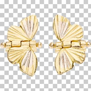 Earring Monarch Butterfly Migration Animal Migration Gold White PNG
