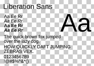 Liberation Fonts Typeface Typography Font PNG