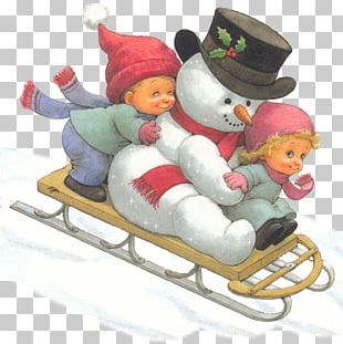 Snowman Christmas Ornament Sled Christmas Decoration PNG