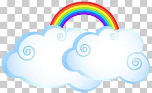 Rainbow Cloud Cartoon PNG