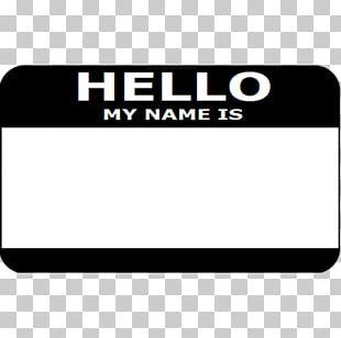 Name Tag Sticker Pin Label Zazzle PNG