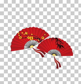 China Paper Hand Fan Icon PNG