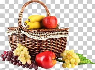 Fruit Basket Hamper Grape Vegetarian Cuisine PNG