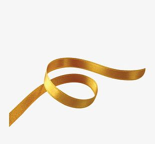 Gold Ribbon Floating Material PNG
