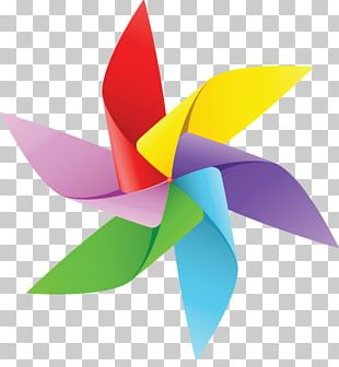 Pinwheel Paper Windmill Colorful Puzzle PNG