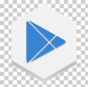 Blue Square Triangle Brand PNG