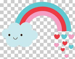 Love Rainbow Cloud Party PNG