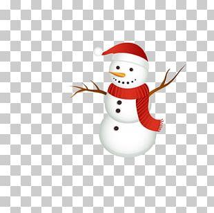 Santa Claus Snowman Christmas Ornament Scarf PNG