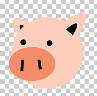 Pig Snout Dog Whiskers PNG