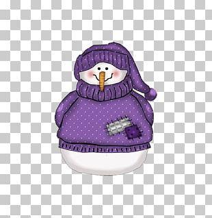 Snowman Christmas Decoration Purple PNG