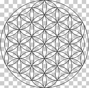 Sacred Geometry Symbol Overlapping Circles Grid Shape PNG