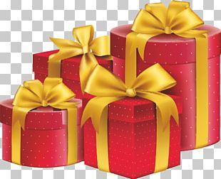 Gift Ribbon Box Illustration PNG