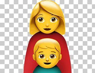Single Mother Apple Emoji PNG