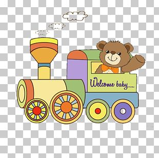Train Wedding Invitation Greeting Card Baby Shower PNG