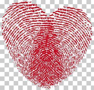 Fingerprint Heart Love Live Scan PNG
