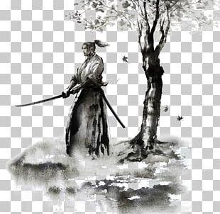 Samurai Tattoo Irezumi Sword Drawing PNG