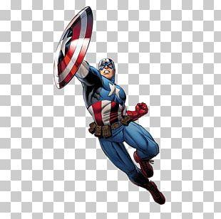 Comic Captain America PNG