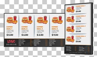 Pizza Digital Signs Fast Food Restaurant Menu PNG