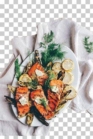 Seafood Salmon Recipe Corn On The Cob Vegetarian Cuisine PNG