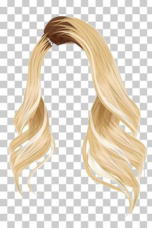 Stardoll Wig Brown Hair Blond PNG