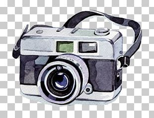 Watercolor Painting Camera Photography Illustration PNG