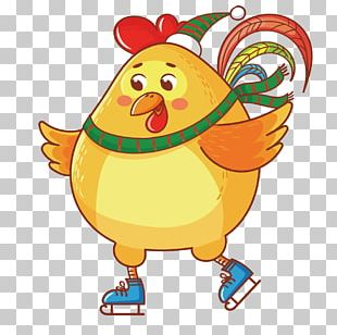 Chicken Cartoon Chinese New Year PNG