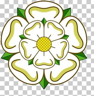 Flags And Symbols Of Yorkshire White Rose Of York Yorkshire Day PNG